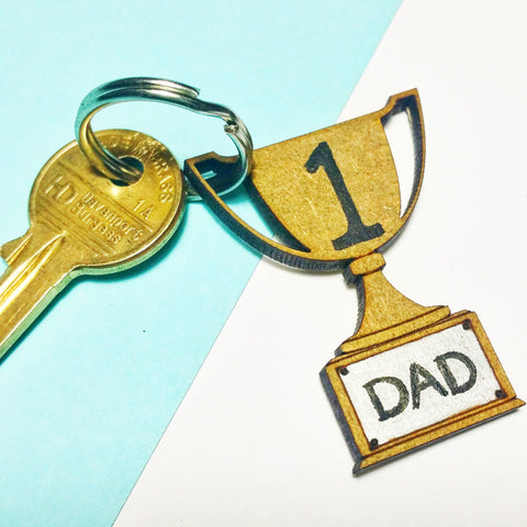 Number 1 Dad Keyring I 5 Awesome Father's Day Gift Ideas I Make Memento