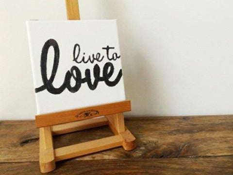 Live to love mini canvas I Wedding Gift Ideas I Make Memento