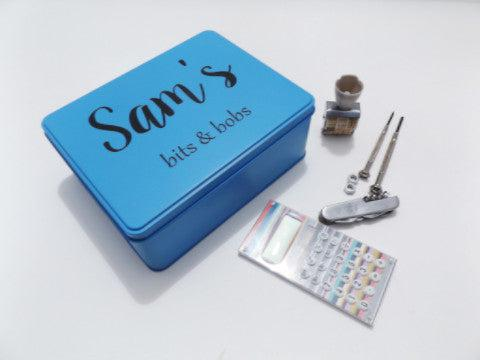 Personalised tool tin I 5 Awesome Father's Day Gift Ideas! I Make Memento