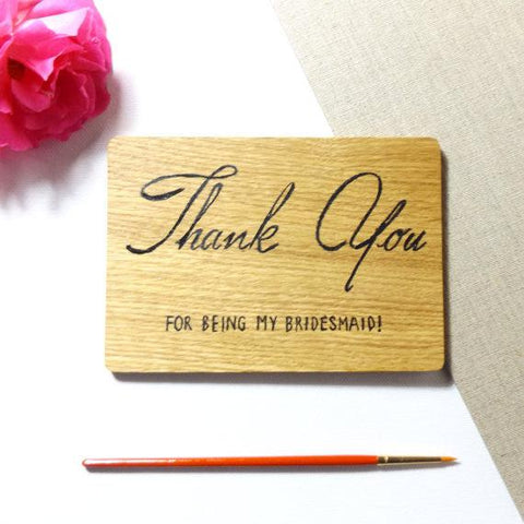 Bridesmaid Thank you Card I 5 Gift Ideas for your Bridesmaids I Make Memento
