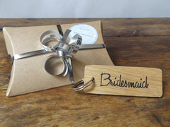 Wooden Bridesmaid Keyring I 5 gift ideas for your Bridesmaids I Make Memento