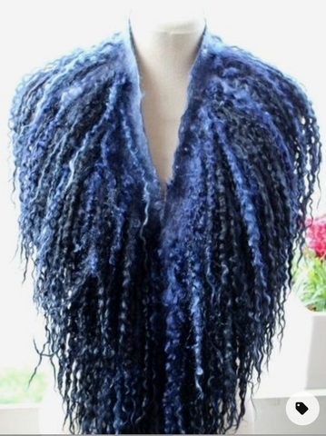 felted long wool cowl