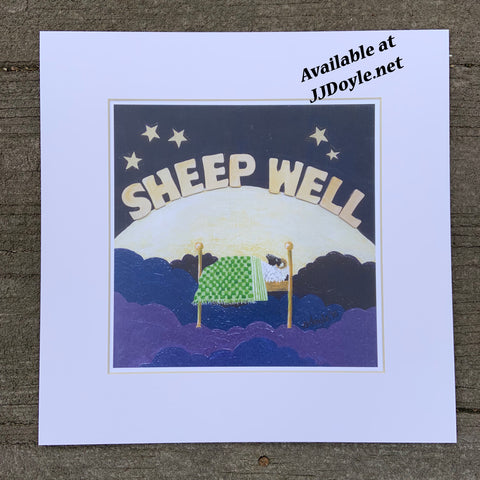 painting of sheep: Sheep Well