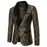 2019 Men's Stylish Luxury Casual Vintage Paisley Blazer Urbane Smart Coat Suit Jacket Formal Evening Party Dress