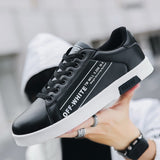 Men's Casual Skateboarding Shoes White Shoes Outdoors Leisure Sneakers Breathable Walking Shoes Flat Shoes Chaussure Homme