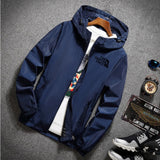 2020 spring and summer new high mountain star jacket men's street windbreaker hoodie zipper thin jacket men's casual jacket 7XL