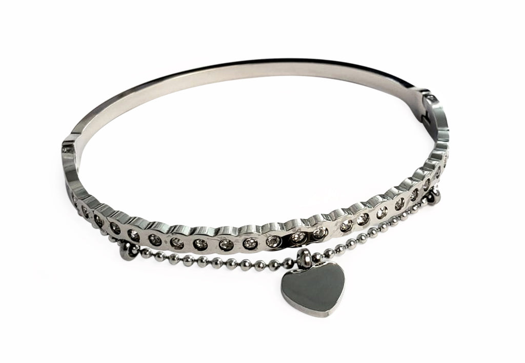 Double Bangle W/ Heart