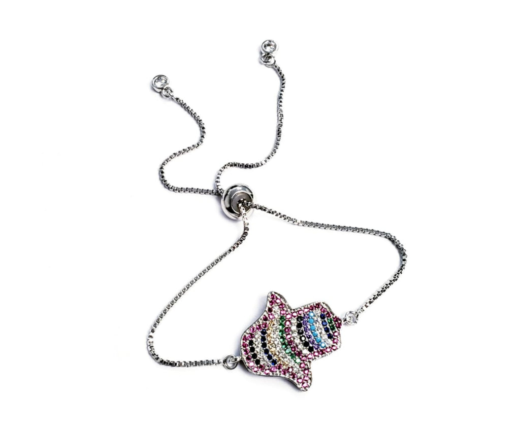 Adjustable Bracelet Colorful Hamsa