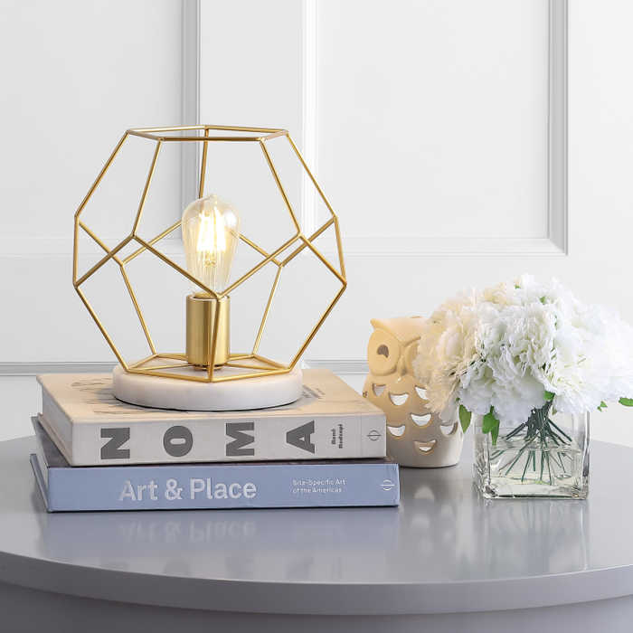 Modern Faceted Brass accent lamp for the master bedroom Faceted Brass Modern Accent Light