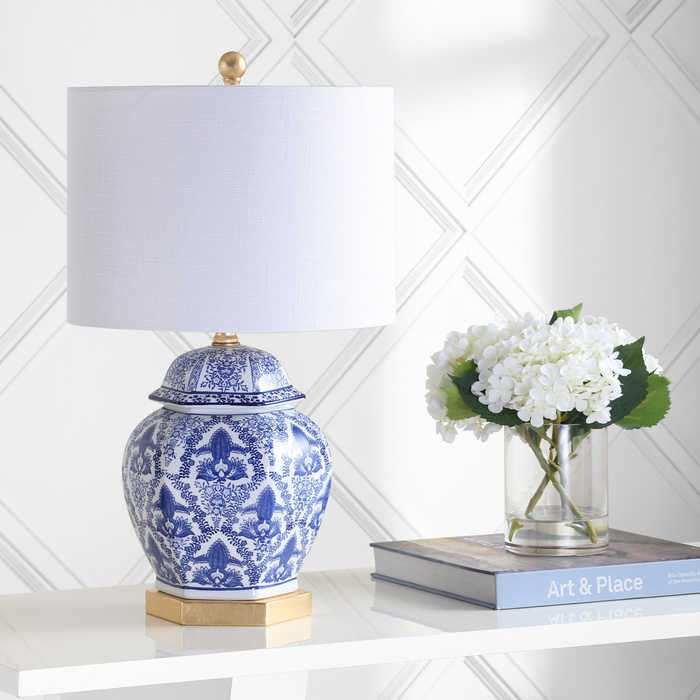 Blue and White Chinoiserie Ginger Jar Lamp