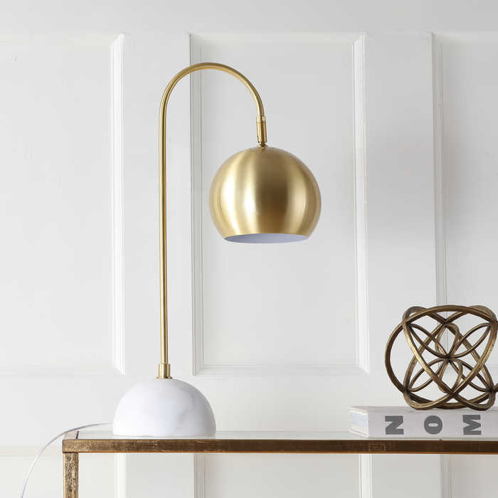 Modern Glam gold and marble lamp