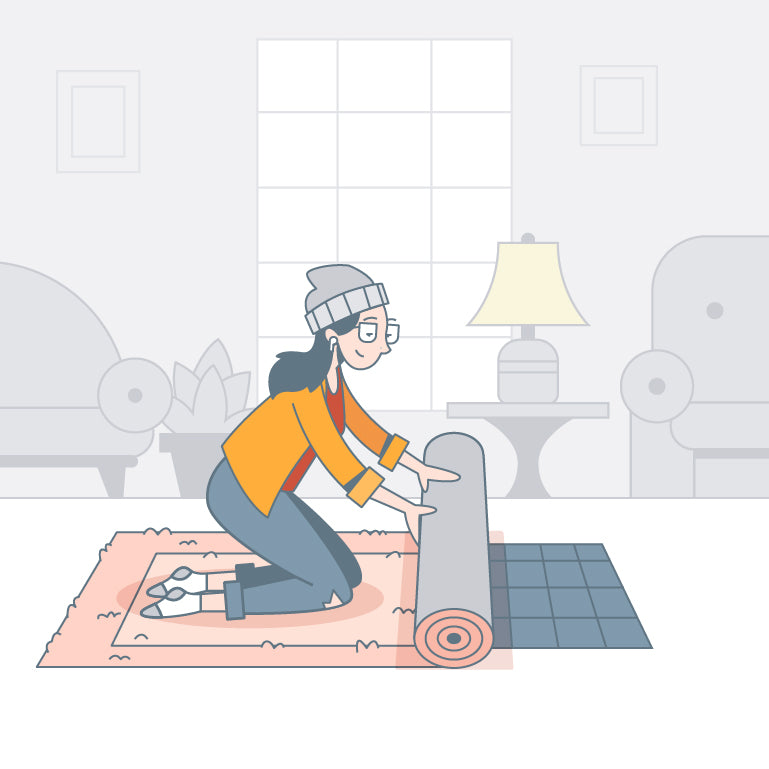 DIY Guide - How to clean area rugs, roll and vacuum
