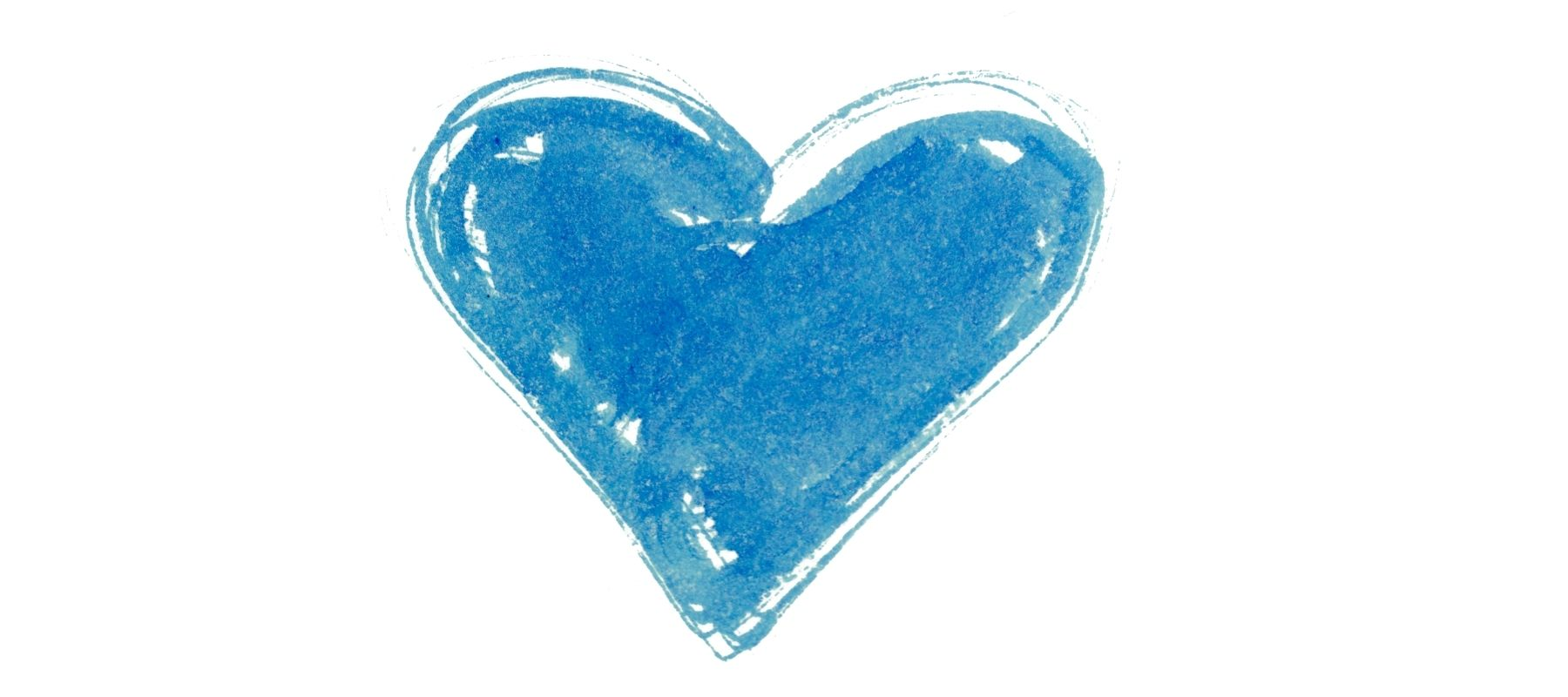 Drawn blue heart for Valentine's Day