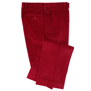 Brisbane Moss 8 Wale Autumn Berry Corduroy Trouser