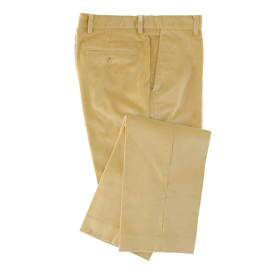 Brisbane Moss 8 Wale Yellow Corduroy Trouser