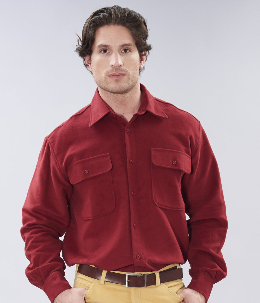 Classic Heavy Moleskin Shirt - Red
