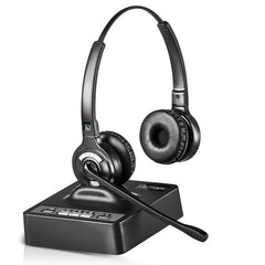 Leitner® OfficeAlly LH375 Wireless Headset – Works With Your Office Phone, Computer, and Cell Phone