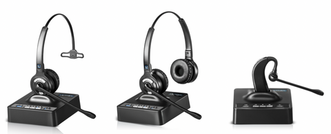 Leitner OfficeAlly LH370, LH375, and LH380 wireless Bluetooth headsets