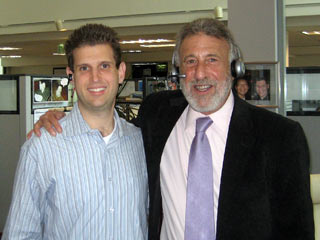 George Zimmer with Ethan Allison wearing the Plantronics CS361N headset