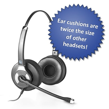 4 out of 5 Customers prefer the comfort and added <br>focus they get from a Plush headset