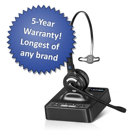 Leitner is our best-selling wireless headset – with an insane 5-year warranty