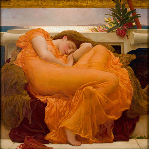 """Frederic Leighton, Flaming June, oil on canvas, 47 x 47"""""""