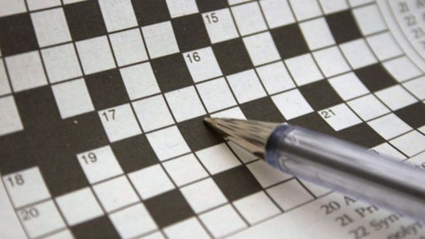 The German woman began solving the crossword clues on the artwork
