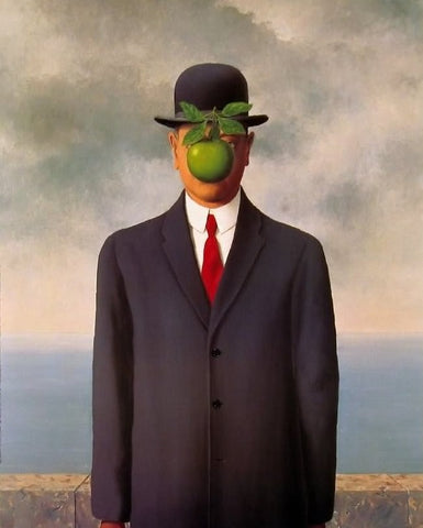 Rene Magritte, The Son of Man, 1964, oil on canvas, 45.67 x 35″