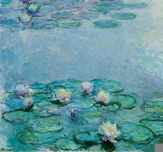 'Waterlilies' by Monet is a classic example of oil on paper