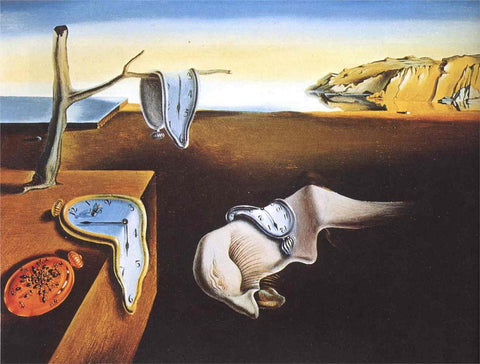 Salvador Dali, The Persistence of Memory, 1931, oil on canvas, 9.5 x 13″