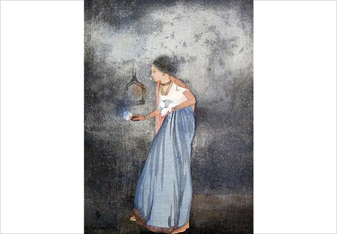 Abanindranath Tagore, The Feast of the Lamp, 1907, 6.75 x 5 in