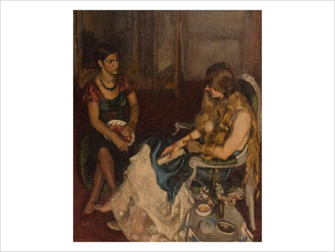 Amrita Sher-Gil, Young Girls, 1932, oil on canvas, 52.36 x 64.5 in