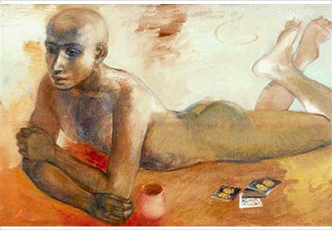 """Anupam Sud, Some Times, 2001, oil on canvas, 24 x 36"""""""