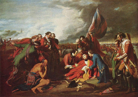 """Benjamin West, The Death of General Wolfe, 1770, 59 x 84"""""""