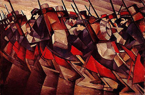 CRW Nevinson, Returning to the Trenches, 1914.