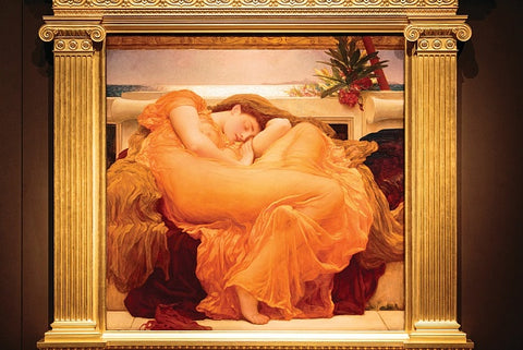 Flaming June (1895) returns to Lord Leighton's London home and studio for the first time since 1930 (Image Kevin Moran. Courtesy of Leighton House Museum)