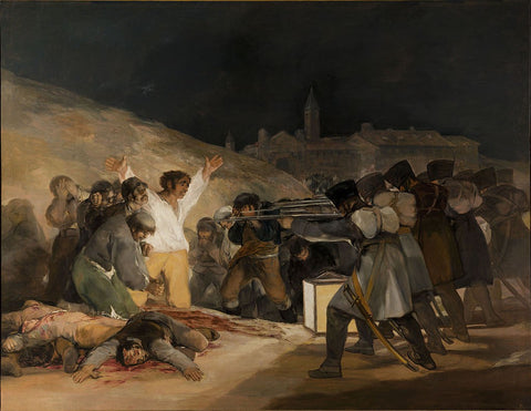 """Francisco Goya, The Third of May 1808, 1814, oil on canvas, 106 x 137"""""""