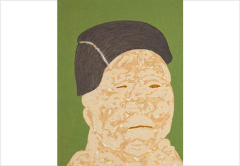 Gieve Patel, Four Meditations on Old Age, 2013, oil on canvas board, 24 x 18 in