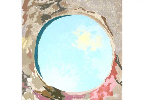 Gieve Patel, Looking Into A Well - The Sun Behind Clouds, 2003, acrylic on canvas, 60 x 60 in