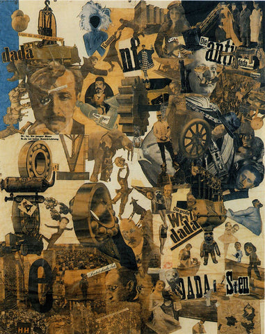 Hannah Höch, Cut with the Dada Kitchen Knife through the Last Weimar Beer-Belly Cultural Epoch in Germany, 1919, collage of pasted papers, 90×144 cm