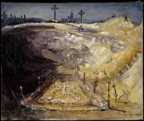Mary Riter Hamilton, Shelter Trench on the Somme, 1919.
