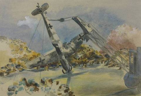 Paul Nash, The Messerschmidt in Windsor Great Park, 1940, Pastel, graphite and watercolour on paper, 400 x 578 mm, Collection Tate.