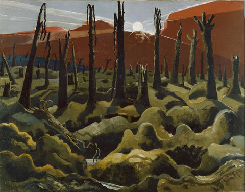 """Paul Nash, We are Making a New World, 1918, oil on canvas, 28 x 36"""""""