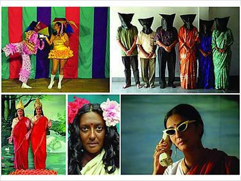 Pushpamala N. & Claire Arni, from the project 'Native Women of South India', work displayed at 'Poses and Views', 2013, Nature Morte, Berlin