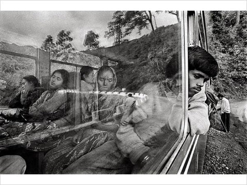 Raghu Rai, ON A TRAIN TO DARJEELING, 1995, digital scan of photographic negative on archival paper, 20 x 30 in