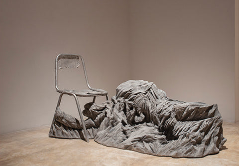 Sakshi Gupta, No Title, 2012 – 2013, from 'Become the Wind', aluminum, cast concrete, 150 x 77 x 68 cm