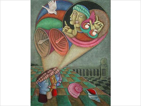 Satish Gujral, Untitled, 1998, mixed media on canvas, 44 x 33 in