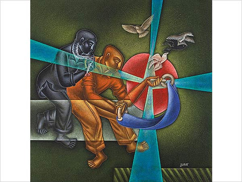 Satish Gujral, Untitled, 2011, oil on canvas, 59 x 59 in