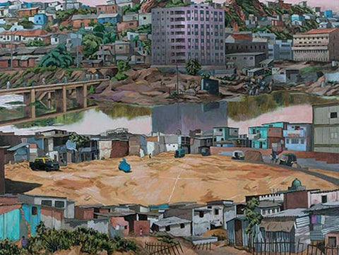 Sudhir Patwardhan, The Clearing, 2007, acrylic on canvas, 54 x 72 in