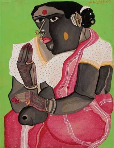 Thota Vaikuntam, Untitled, gouache on paper pasted on board, 17.5 x 13.5 in